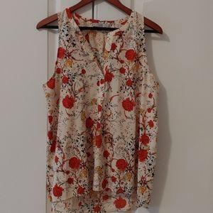 🌺 Dalia Sleeveless Floral Printed Blouse